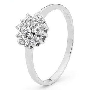 Image of Cubic Zirconia CZ Silver Ring (35432/CZ)