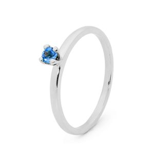 Image of Blue Spinel Silver Ring - Stackable Claw Set (35547/SPCR)