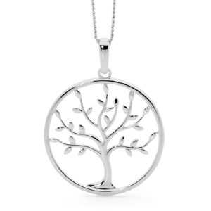 Image of Sterling Silver Pendant - Tree of Life (35722)
