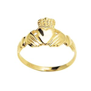 Image of Gold Ring - Claddagh - Crown Heart and Hands (41054)