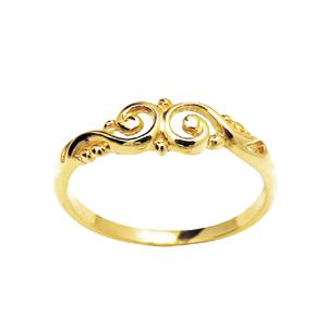 Image of Gold Ring - Filigree Swirls (41654)