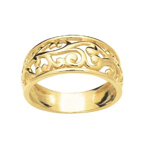 Image of Gold Ring - Filigree Dome (42578)