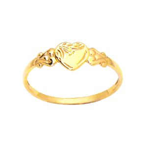 Image of Gold Ring - Heart Size L (43685'L)