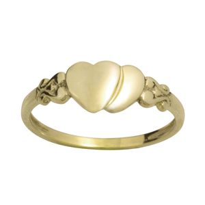 Image of Gold Ring - Hearts Size O (43687'O)