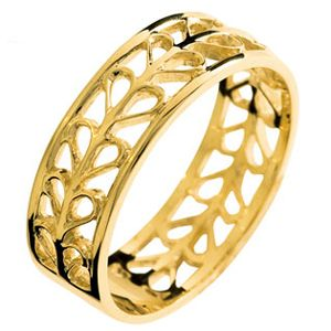 Image of Gold Ring - Heart Band (45054)