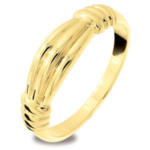 Image of Gold Ring - Ribbon (45212)