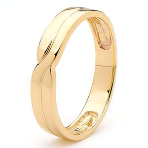 Image of Gold Ring - Men's Wedding Band (45355)
