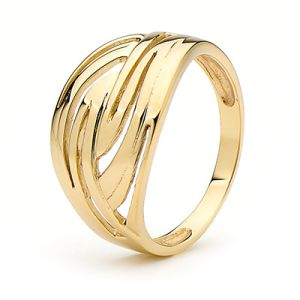 Image of Gold Ring - Swirls (45389)
