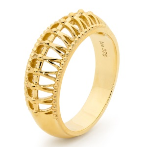 Image of Gold Ring - Millgrain Detail (45729)