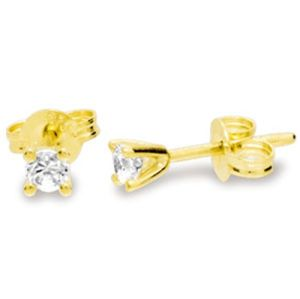 Image of Diamond Gold Earrings .125ct Stud (50114/B125)