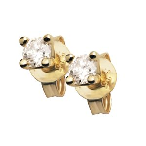 Image of Diamond Gold Earrings .20ct 3mm Claw (50114/B10)