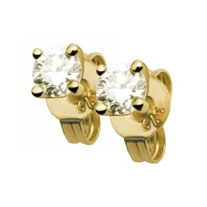 Image of Diamond Gold Earrings .30ct 3.5mm Stud (50114/B15)