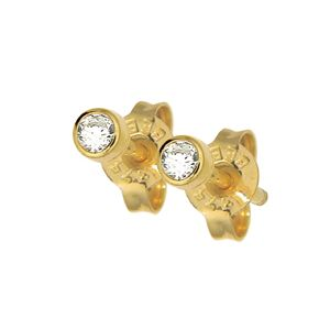 Image of Diamond Gold Earrings .10ct 2.5mm (50116/B05)