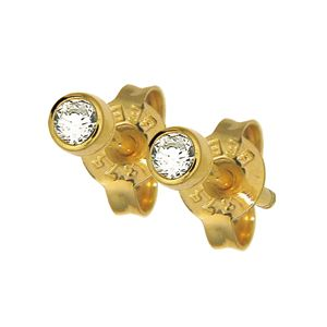 Image of Diamond Gold Earrings .07ct 2.7mm (50116/B07)