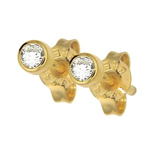Image of Diamond Gold Earrings .30ct 3.4mm (50116/B15)