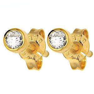 Image of Diamond Gold Earrings .25ct (50116/B25TP)