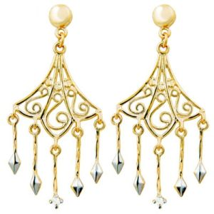 Image of Diamond Gold Earrings - Chandelier Drop (54132)