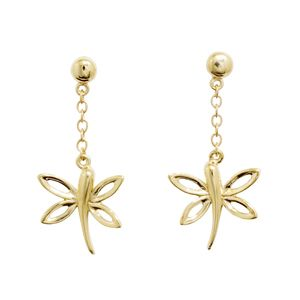 Image of Gold Earrings - Dragonfly (54972)