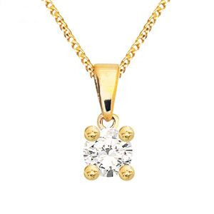 Image of Diamond Gold Pendant .05ct (60985/A05)