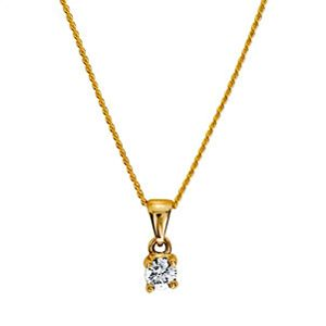 Image of Diamond Gold Pendant .20ct Claw Set (60985/B20)