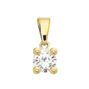 Image of Diamond Gold Pendant .05ct Round (60985/C05)