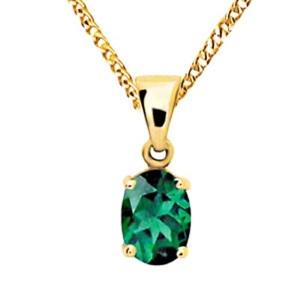 Image of Emerald Gold Pendant - Oval 7x5mm (61501/G)