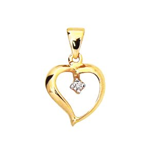 Image of Diamond Gold Pendant - Heart Drop (61943)