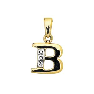 Diamond Gold Pendant - B Initial