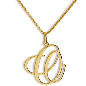 Image of Gold Pendant - O (65046/O)
