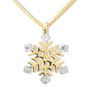Image of Diamond Gold Pendant - Snowflake (65209)
