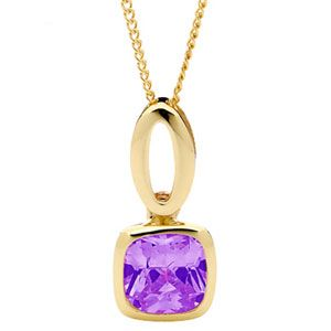 Image of Amethyst Gold Pendant - Loop (65346/AM)