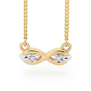 Image of Diamond Gold Necklace - Infinity (65555)