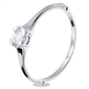 Image of Diamond Platinum Ring - Solitaire .15ct (PT25233A15)