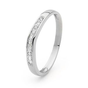 Image of Diamond Platinum Ring - Channel Wedding Band (PT25332A10)
