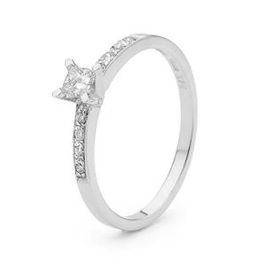 Image of Diamond Platinum Ring - Engagement .26ct TDW (PT25353A26)