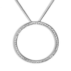 Image of Diamond Platinum Pendant - Circle of Life Hoop (PT65048A40)