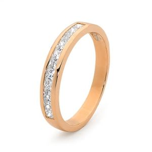Cubic Zirconia CZ Rose Gold Ring - Anniversary