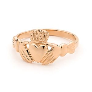 Image of Rose Gold Ring - Claddagh (R41054)