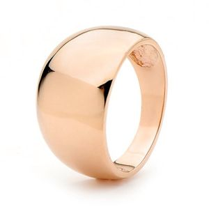 Image of Rose Gold Ring - Dome Convex (R42256)