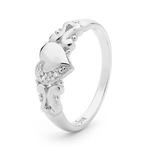 Image of Diamond White Gold Ring - Heart (W22790)