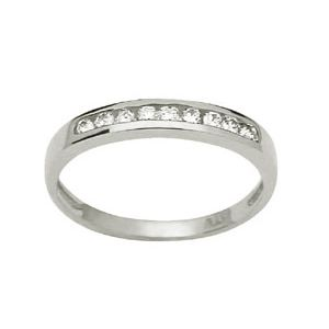 Image of Diamond White Gold Ring - Eternity Channel (W23260)