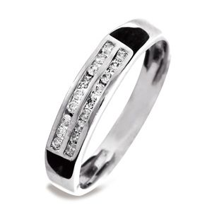 Image of Diamond White Gold Ring - Eternity Double Row (W23514/C18)