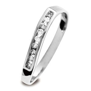 Image of Diamond White Gold Ring - Eternity Freeform (W23521)