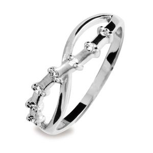 Image of Diamond White Gold Ring - Crossover (W24921)