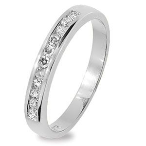 Image of Diamond White Gold Ring - Eternity (W25270/B20)