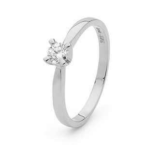 Image of Diamond White Gold Ring - Engagement .25ct (W25303/C25)