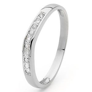 Image of Diamond White Gold Ring - Eternity Setting (W25332/C10)