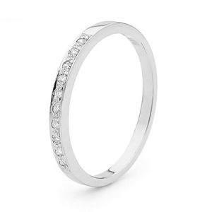 Image of Diamond White Gold Ring - Pave Wedding Band (W25354/B10)