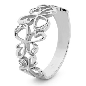 Image of Diamond White Gold Ring - Angels (W25592)
