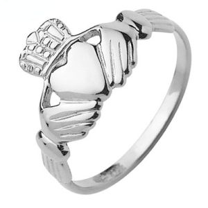 Image of White Gold Ring - Claddagh (W41054)